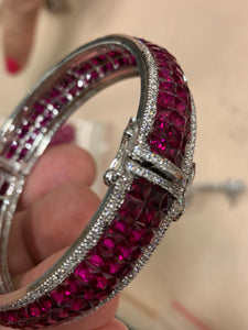 Made to Order Invisible Setting Ruby Bangle