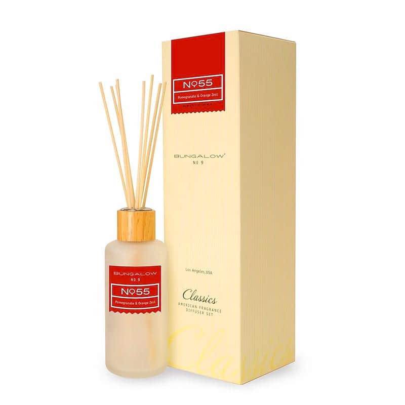 Bungalow No.9 No.55 Pomegranate and Orange Zest Diffuser 200ml