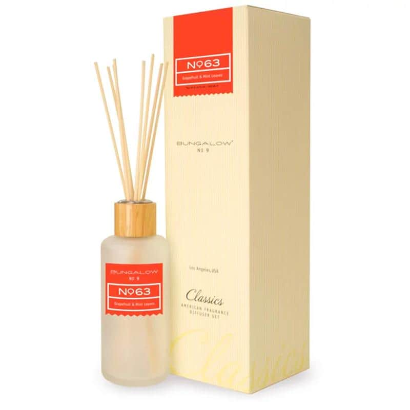 Bungalow No.9 No.63 Grapefruit and Mint Leaves Diffuser 200ml