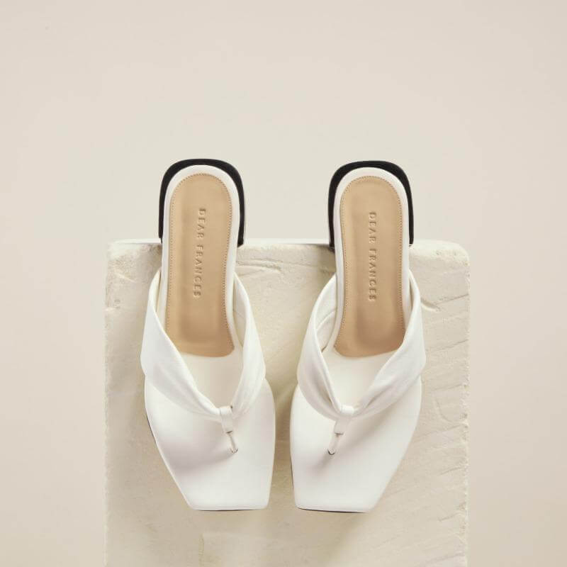 Dear Frances Wrap Sandal Chalk