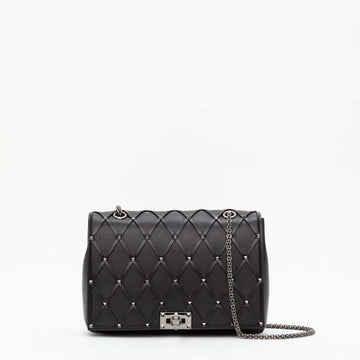 Valentino Garavani Medium Beehive Chain Bag Nero
