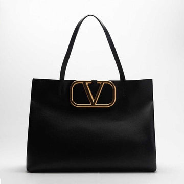 Valentino Garavani Medium Supervee Calfskin Tote Bag Nero