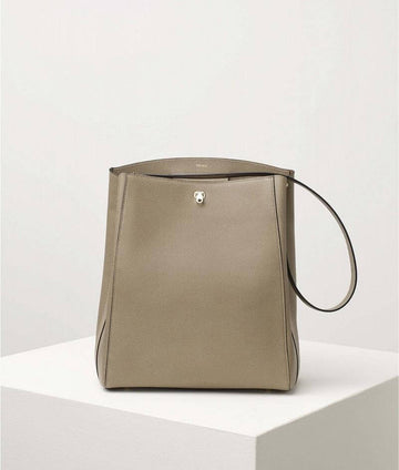 Valextra Brera Shoulder Bag Oyster