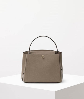 Valextra Brera Top Handle Medium Bag Oyster