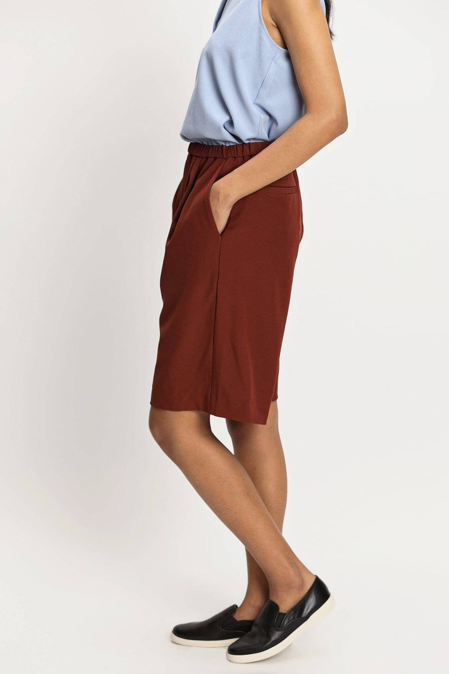 harlan + holden bermuda shorts buffer brown