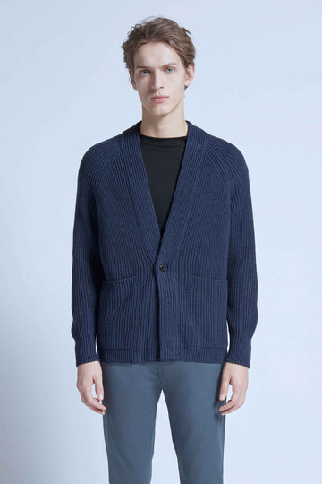 harlan + holden cardigan flight blue
