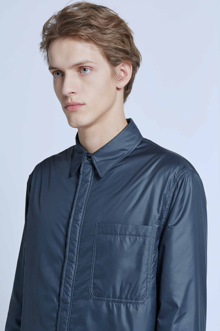 harlan + holden padded space shirt blue