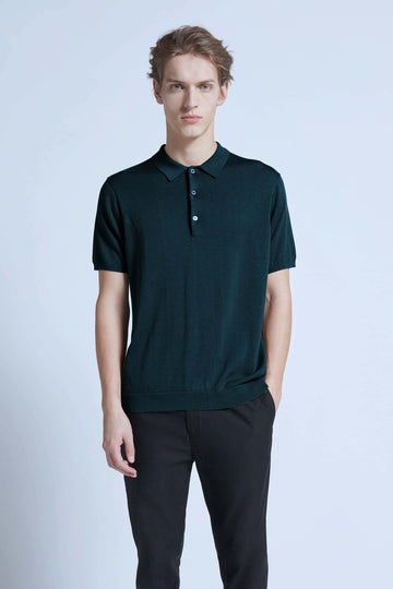harlan + holden polo breathe dark jade