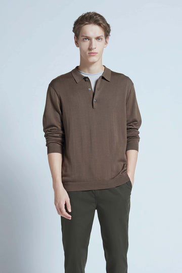 harlan + holden polo breathe long sleeve dark rock