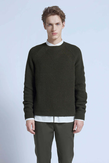 harlan + holden sweater dart dark green