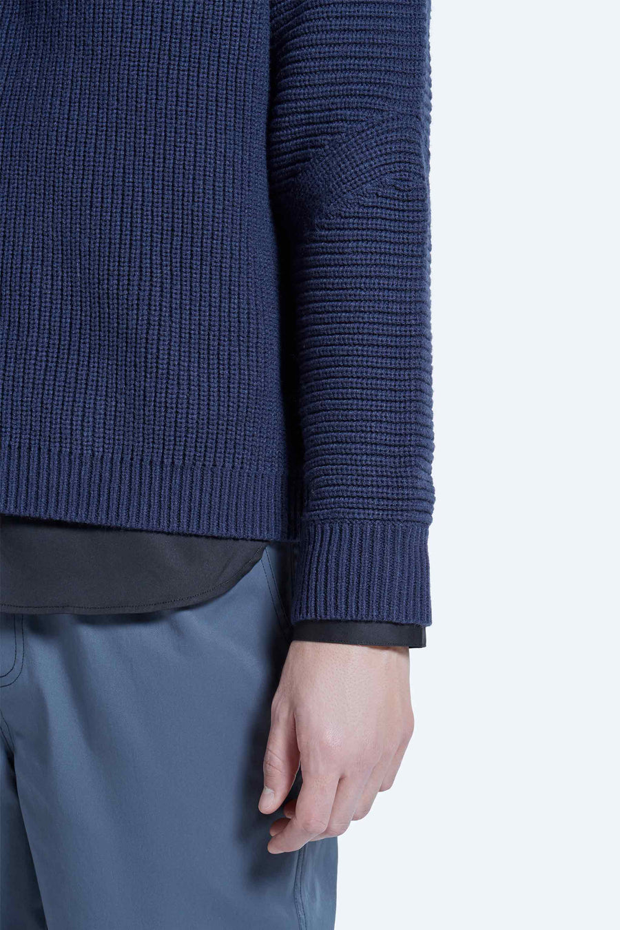 harlan + holden sweater dart blue
