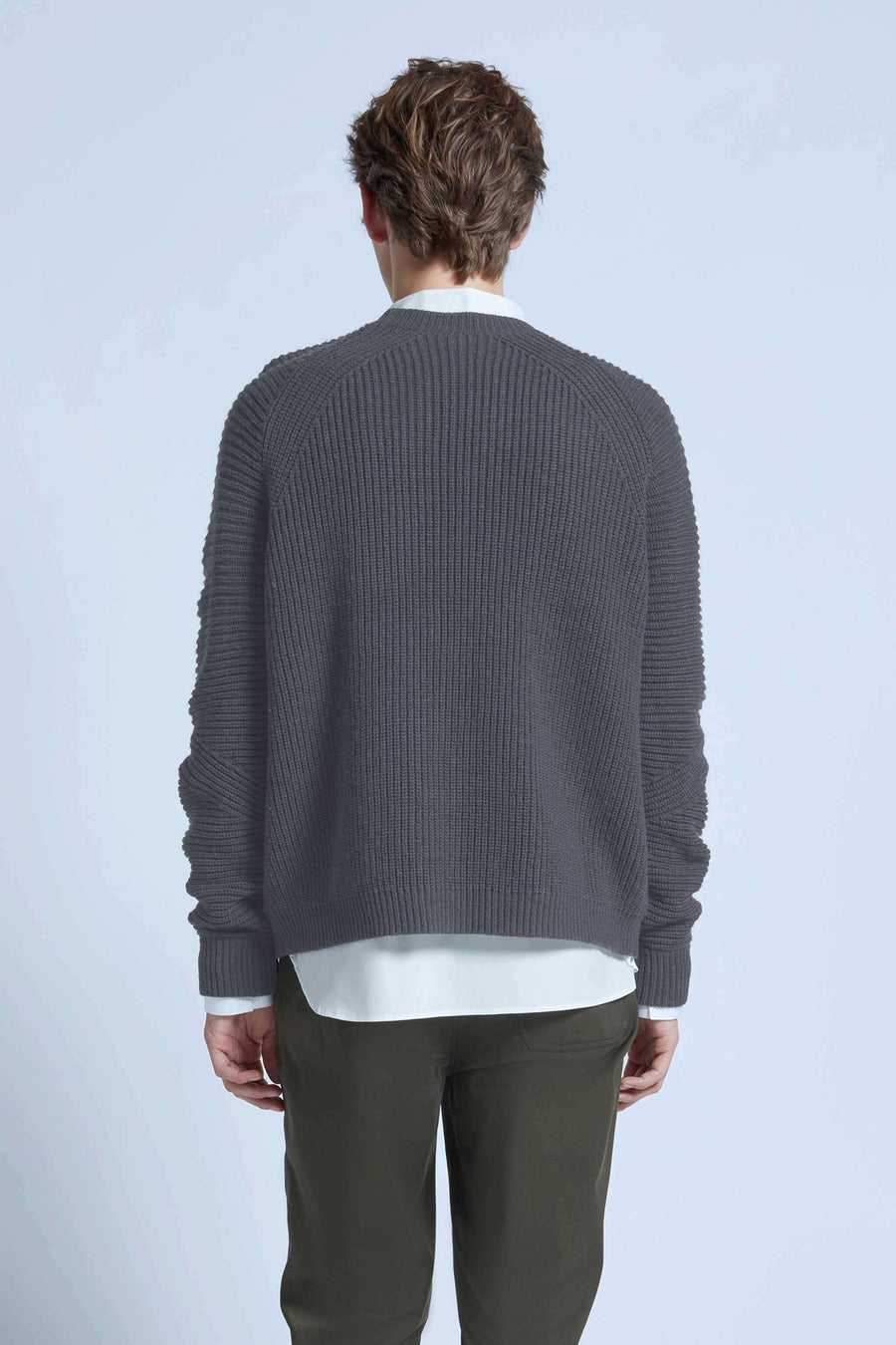 harlan + holden sweater dart grey melange