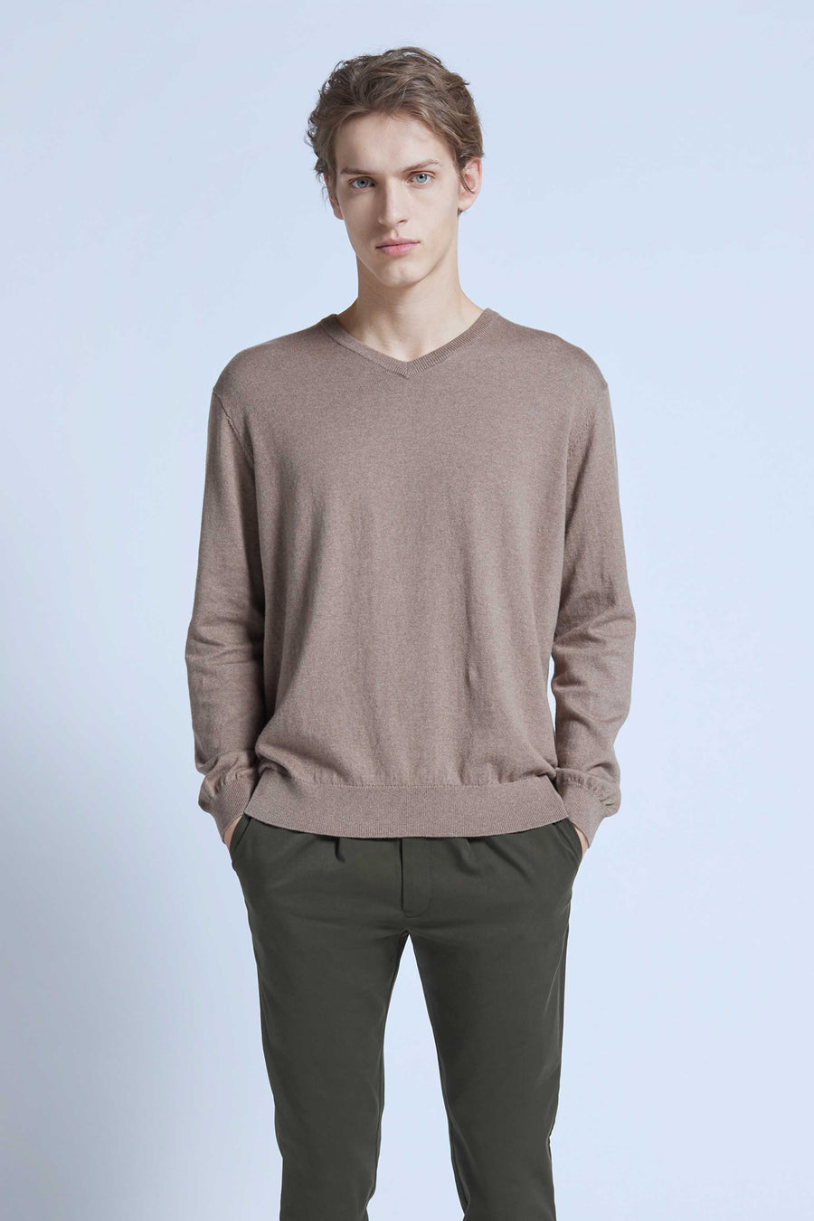 harlan + holden v-neck sweater dash cold rock