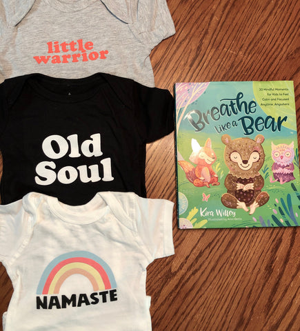 Breathe Like a Bear Book and Kids Yoga Tees