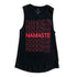 Namaste Muscle Tank Red Ladies