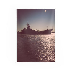 Indoor Wall Tapestries: Battleship New Jersey