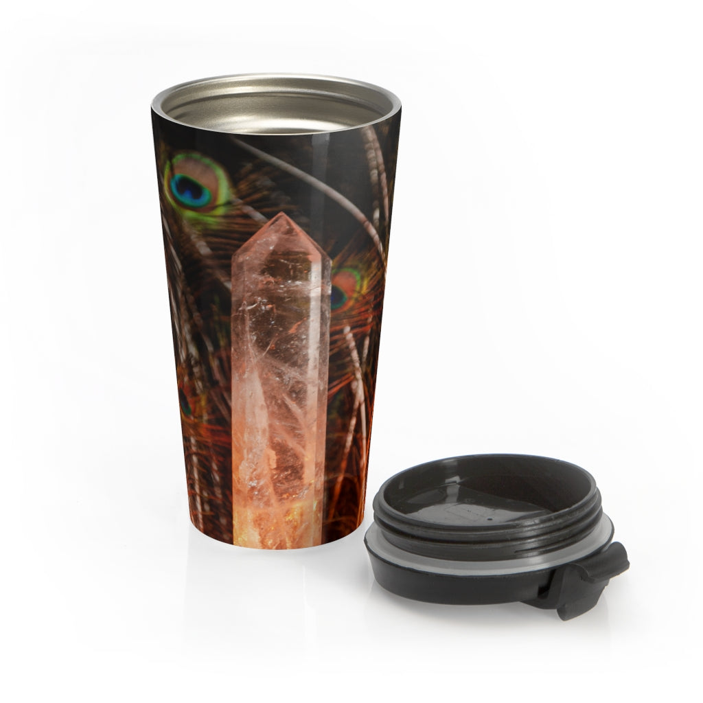 Stainless Steel Travel Mug: Love and Light
