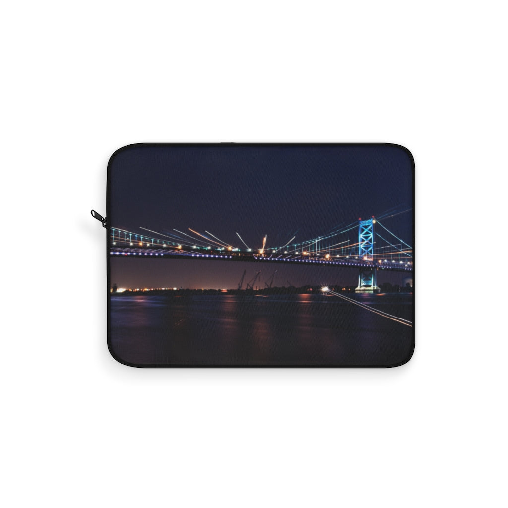 Laptop Sleeve: Benjamin Franklin Bridge at Night
