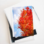Journal - Blank - Red Tree Blue Sky