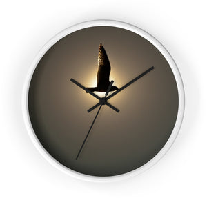 Wall clock: Seagull in the Sun