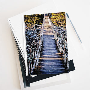 Journal - Ruled Line - Hanging Bridge Painting