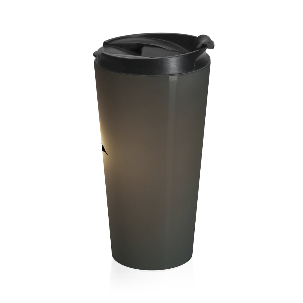 Stainless Steel Travel Mug: Seagull in the Sun