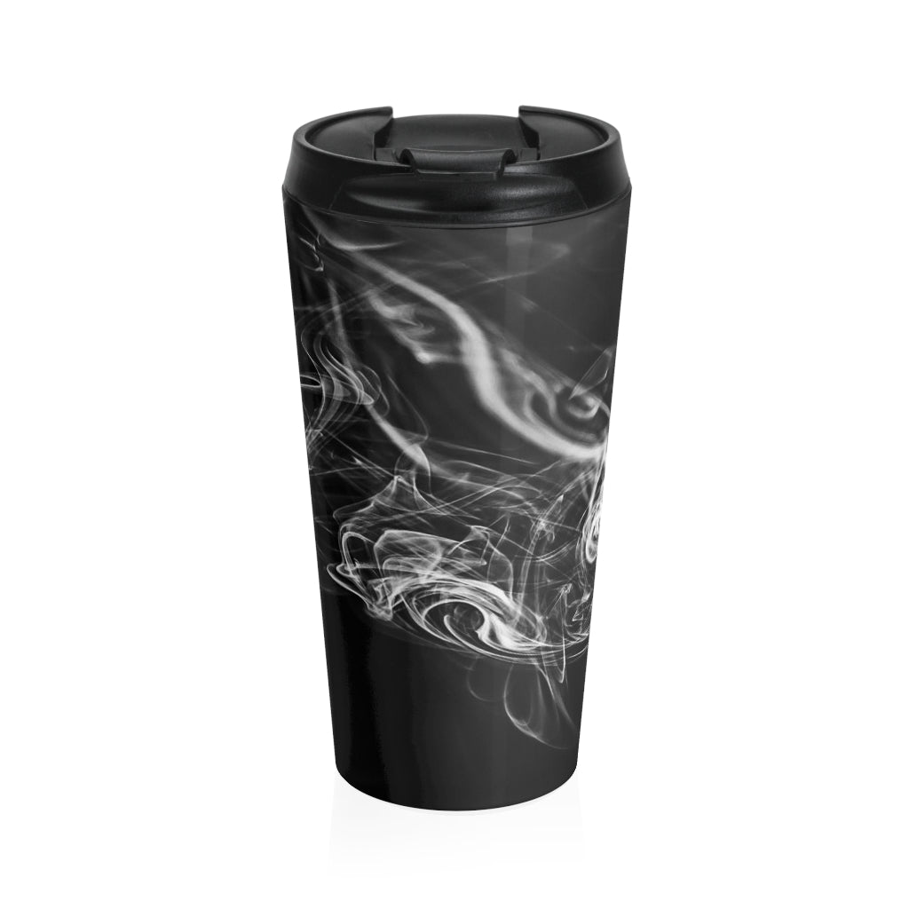 Stainless Steel Travel Mug: Swirly Smoke 2