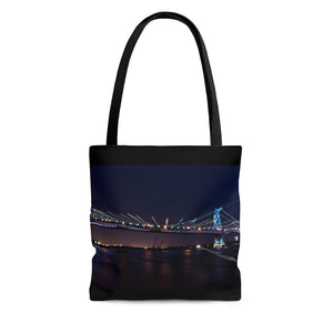 Tote Bag: Benjamin Franklin Bridge at Night