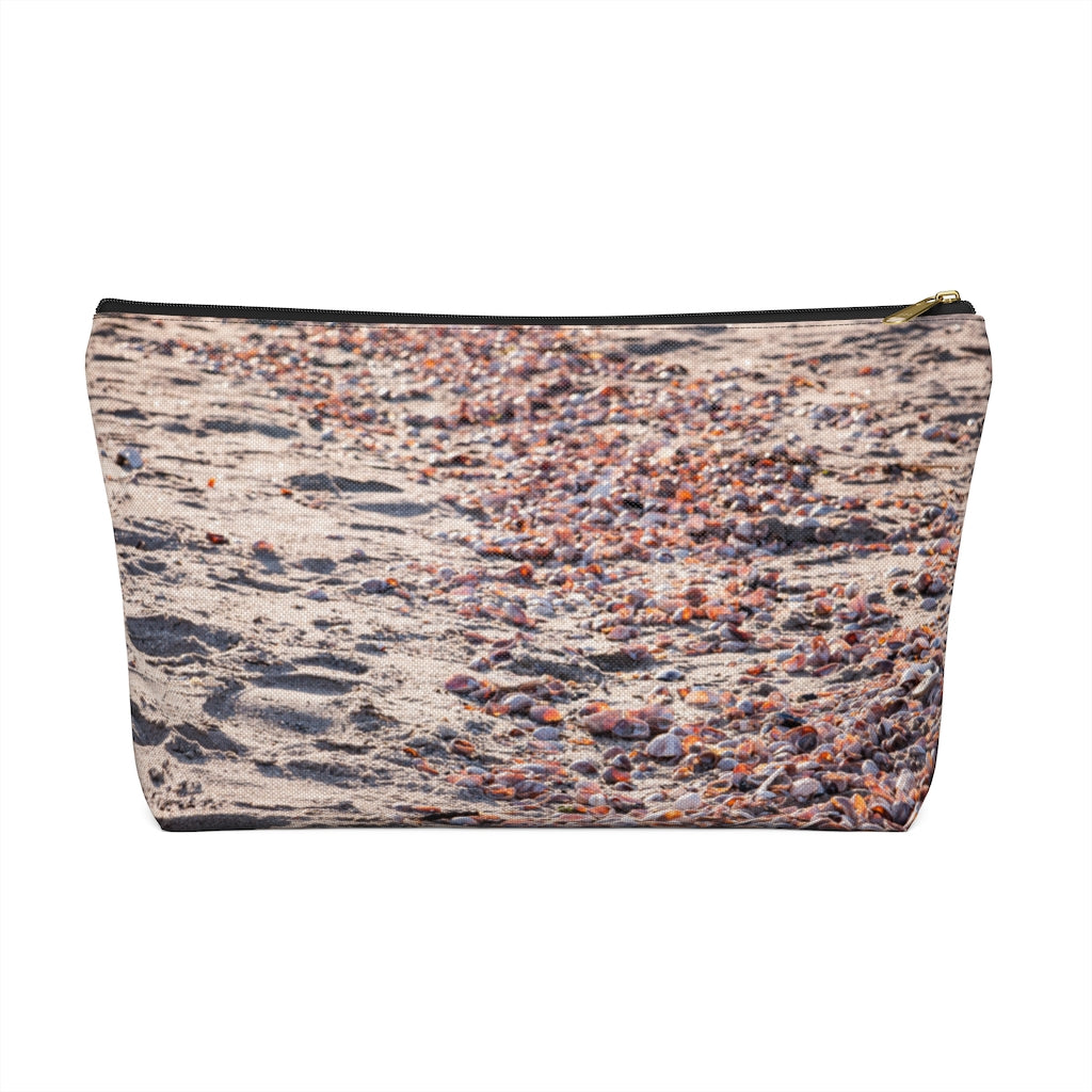 Accessory Pouch w T-bottom: Pink Seashells