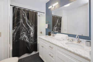 Shower Curtains: Swirly Smoke 2