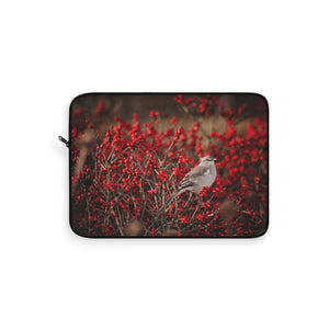 Laptop Sleeve: Bird in the Berries