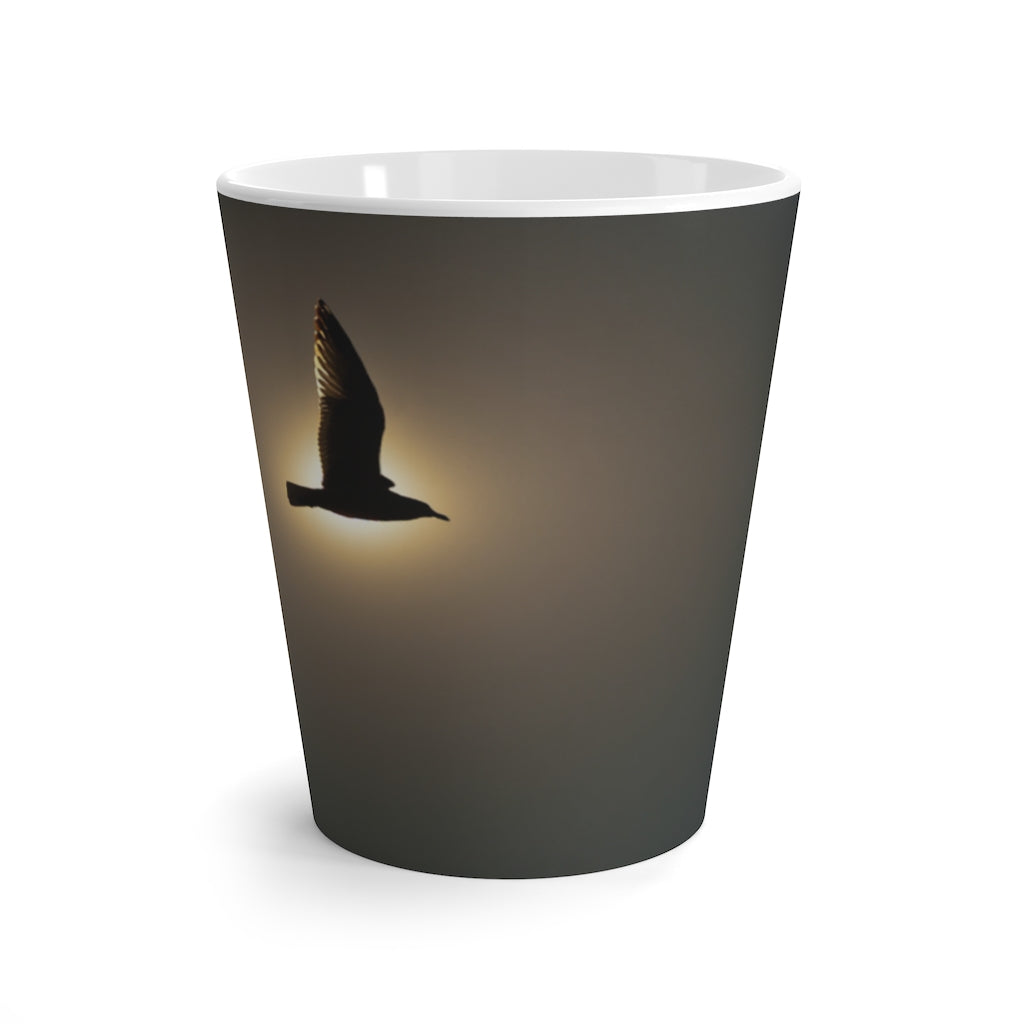 Latte mug: Seagull in the Sun