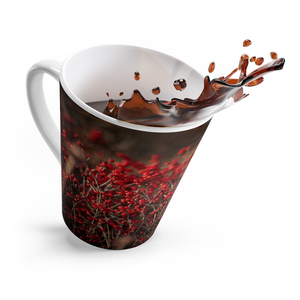 Latte mug: Birdie in the Berries