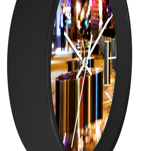 Wall clock: Rhythm of the City (with lines)