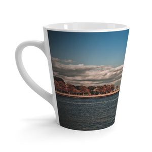 Latte mug: Coastal Autumn Scene