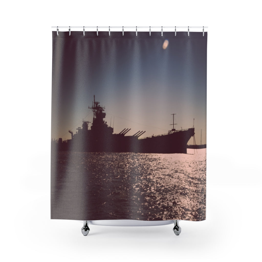 Shower Curtain: Battleship New Jersey
