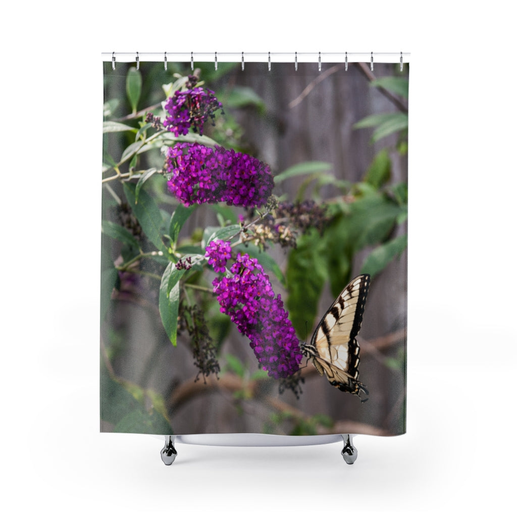 Shower Curtain: Butterfly in Bush