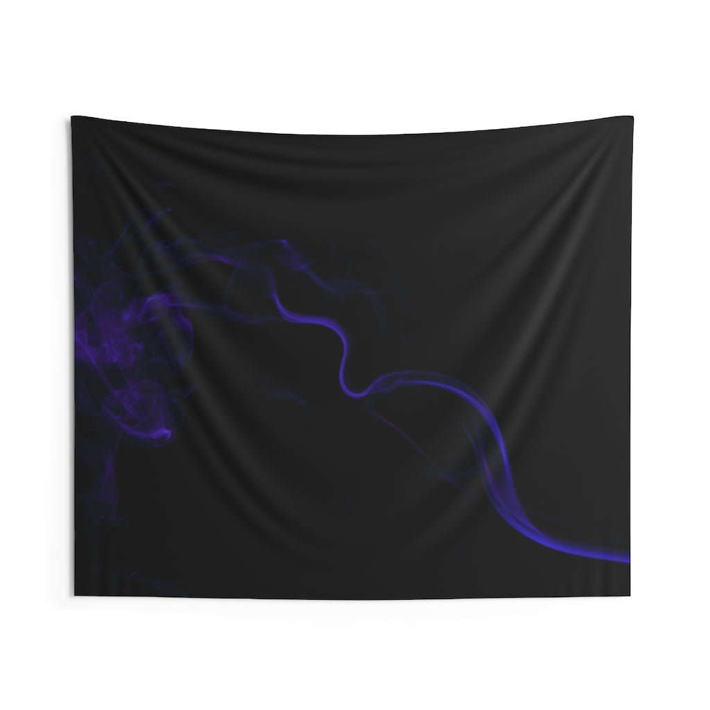 Indoor Wall Tapestries: Blue Smoke (Horizontal)