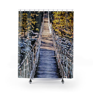 Shower Curtains: Hanging Bridge Painting