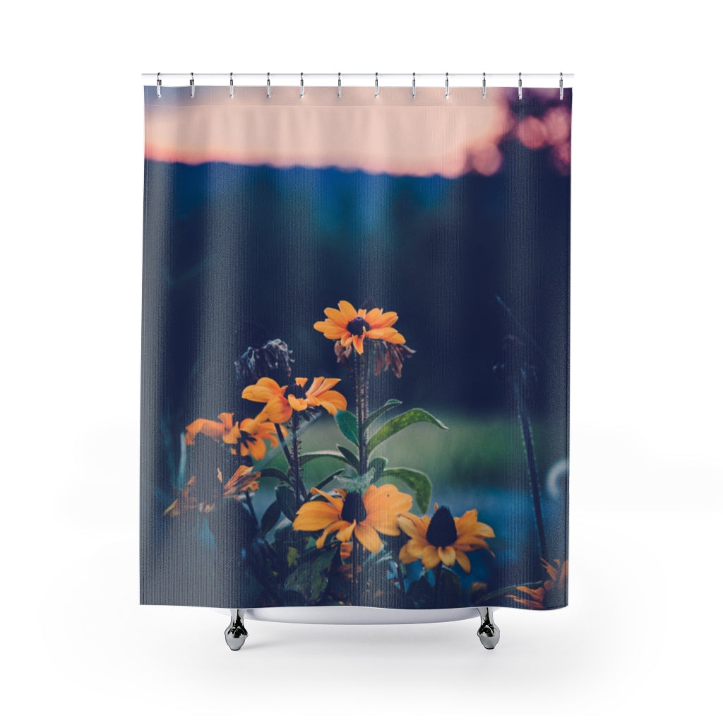 Shower Curtain: Sunset Flowers