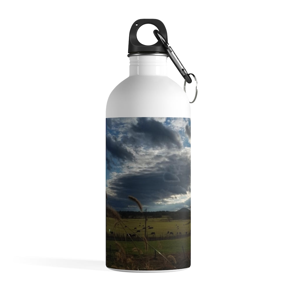Stainless Steel Water Bottle: Virginia Mountain Scene