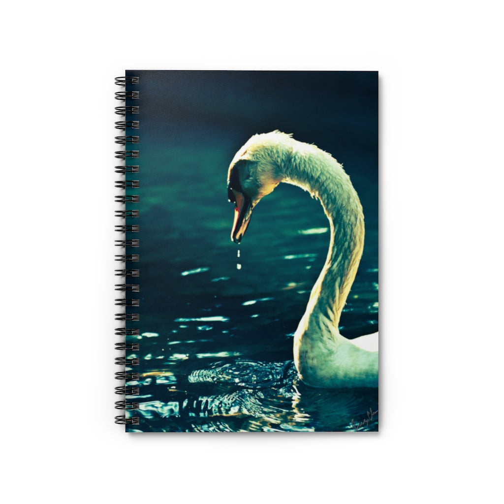 Spiral Notebook - Ruled Line - The Swan