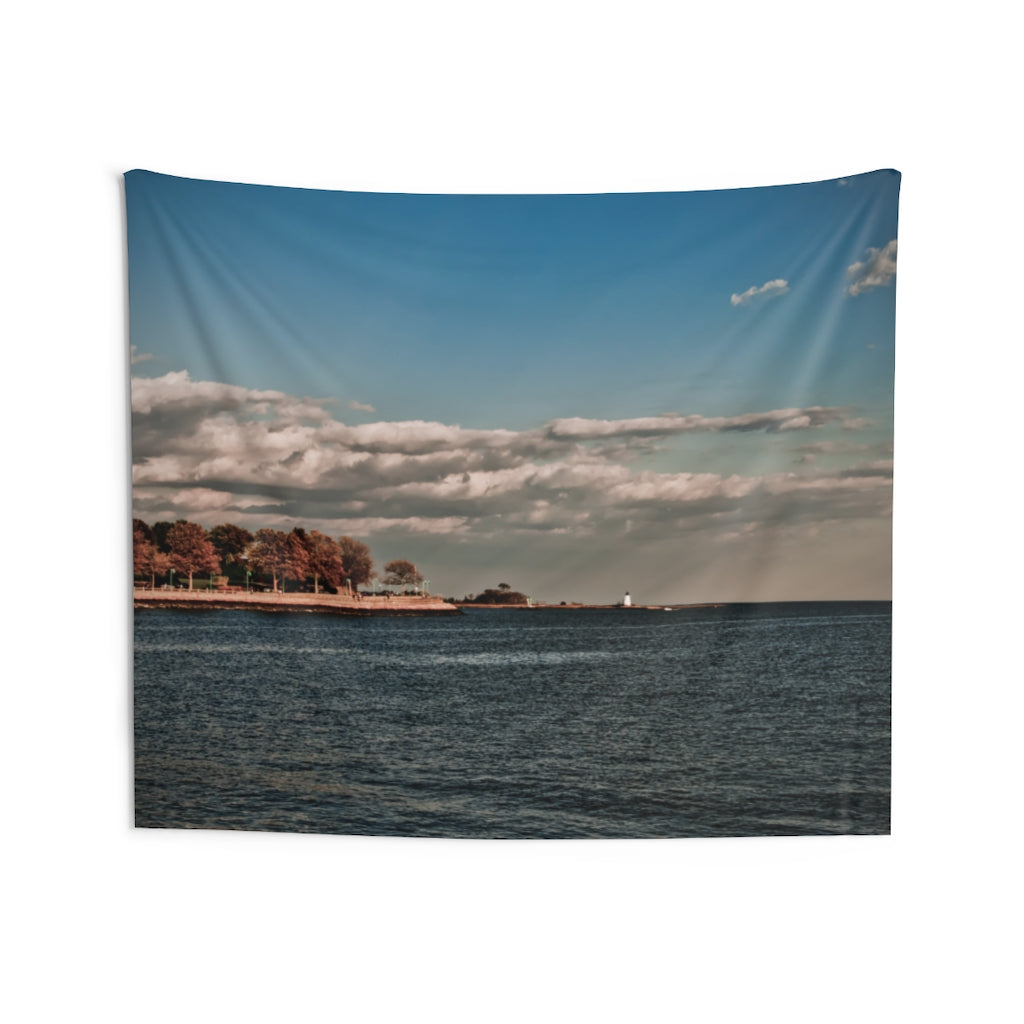 Indoor Wall Tapestries: Autumn Coastal Scene