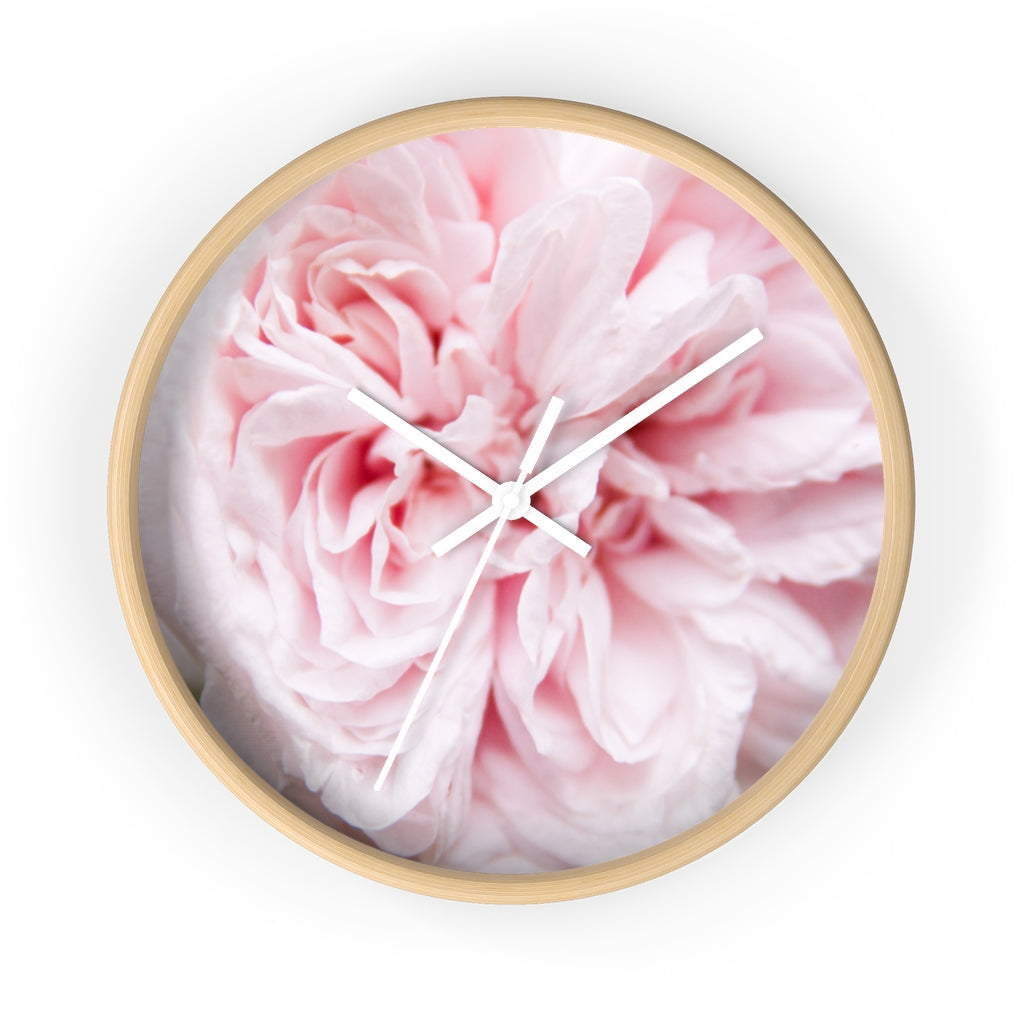 Wall clock: Pink Floral