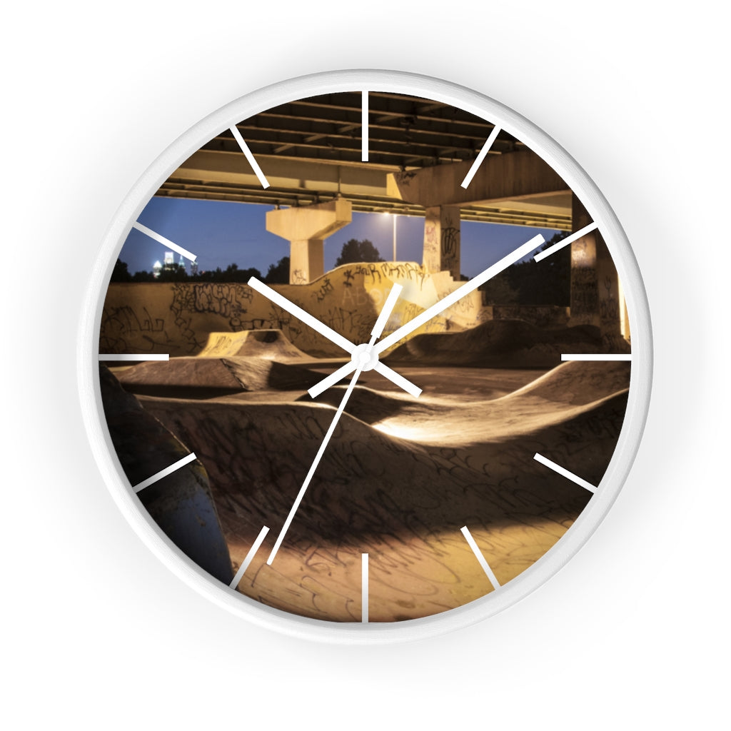 Wall clock: FDR Skate Park (with lines)
