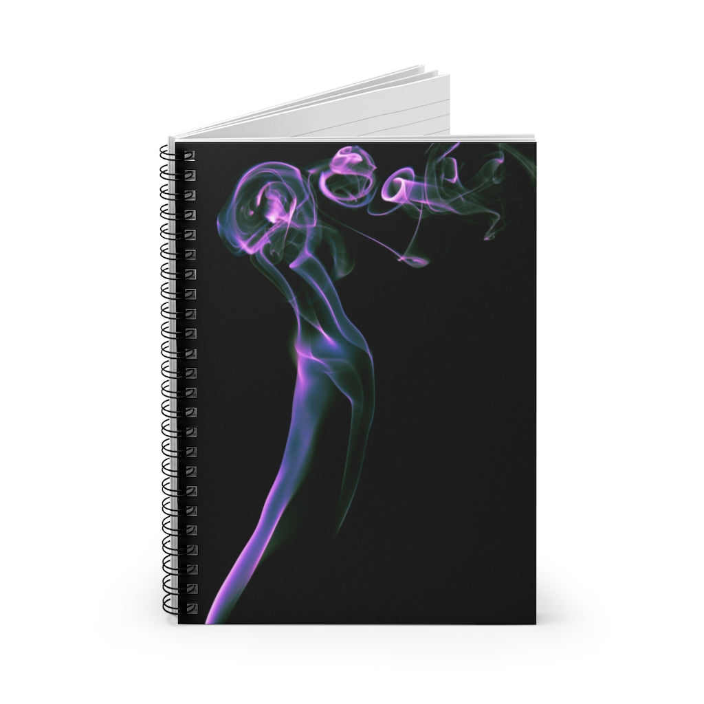 Spiral Notebook - Ruled Line - Purple Smoke