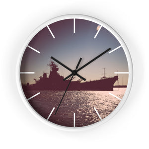 Wall clock: Battleship New Jersey (with lines)