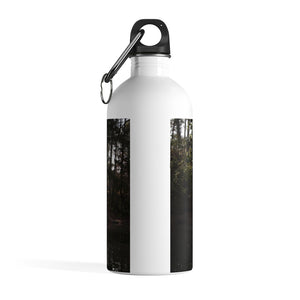 Stainless Steel Water Bottle: Swan in Lake