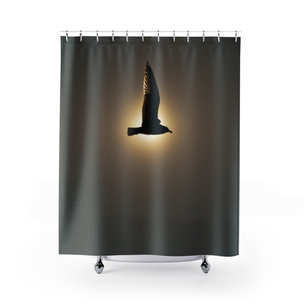 Shower Curtains: Seagull in the Sun