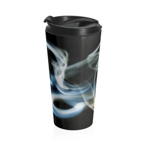 Stainless Steel Travel Mug: Swirly Smoke